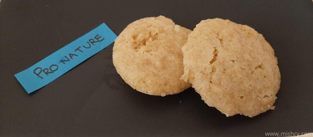 closer look at idlis made using pro nature organic sooji