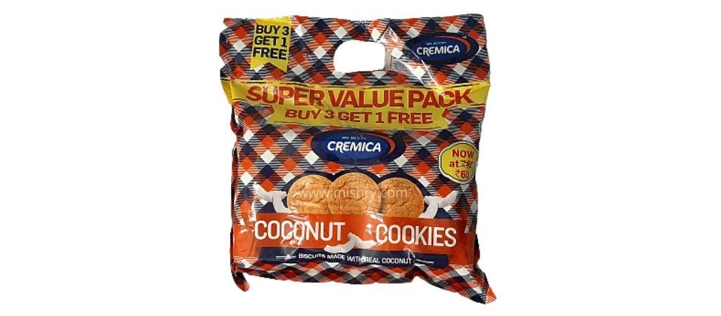 cremica coconut cookies packaging