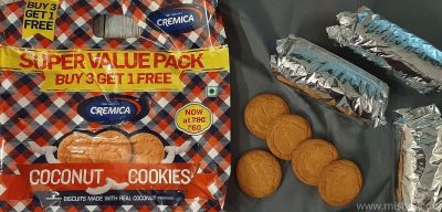 cremica coconut cookies review