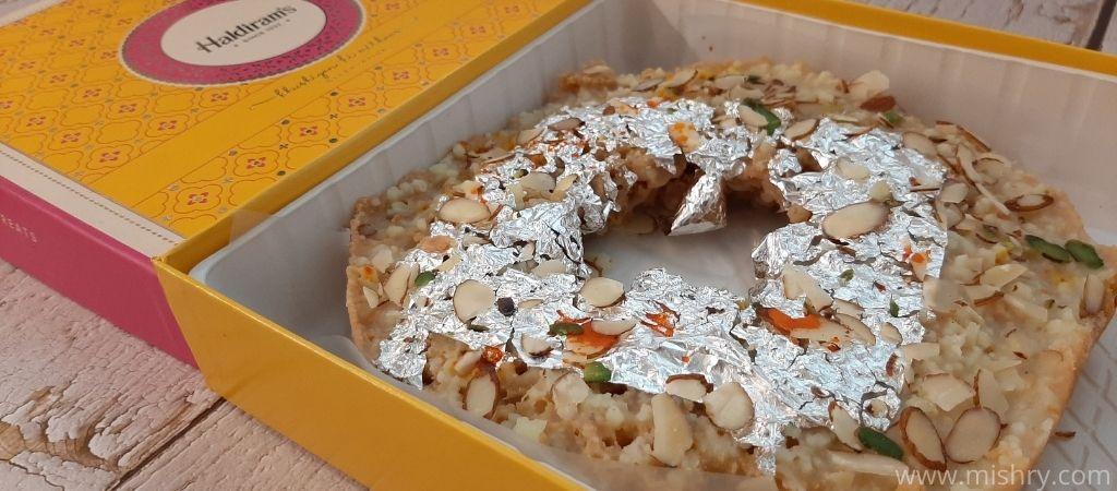 haldiram ghevar toppings
