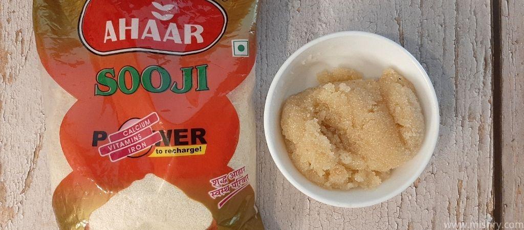 halwa in a bowl made of ahaar sooji
