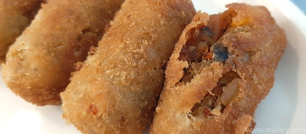 inside contents of cooked veggie stix