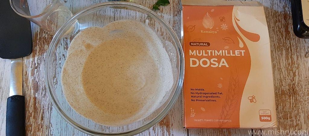 multi millet dosa batter in a bowl