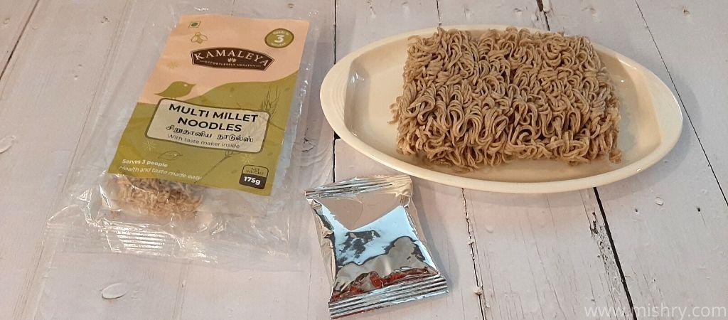 multi millet noodles packet contents