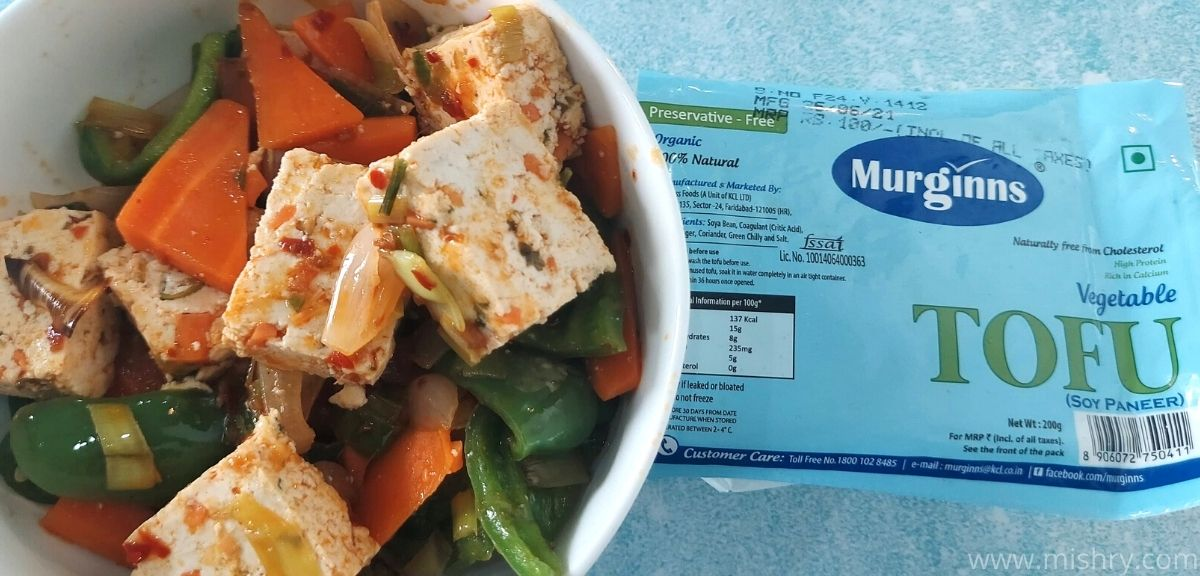 murginns organic vegetable tofu review