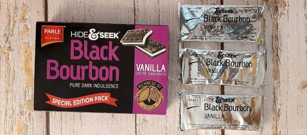 parle hide and seek black bourbon packaging