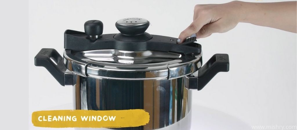 prestige svachh clip on stainless steel cooker manual cleaning window