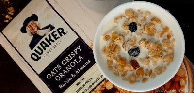 quaker oats crispy granola raisin and almonds review